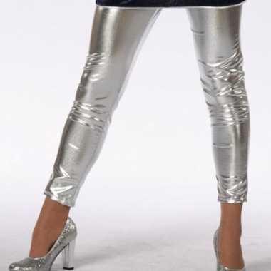 Zilveren kinder legging carnavalskleding Roosendaal