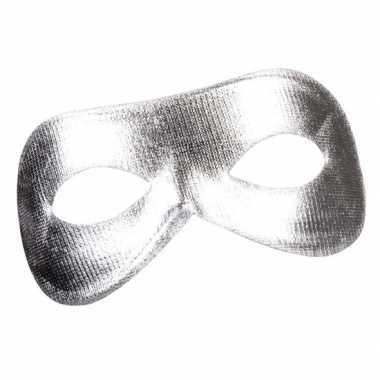 Zilveren metallic oogmasker dames carnavalskleding roosendaal