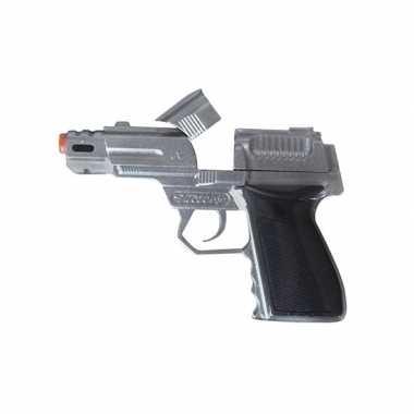 Zilveren pistool shots carnavalskleding roosendaal