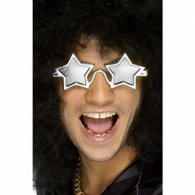 Zilveren sterren disco bril volwassenen carnavalskleding roosendaal