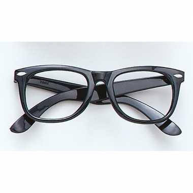 Zwarte bril zonder glazen carnavalskleding roosendaal