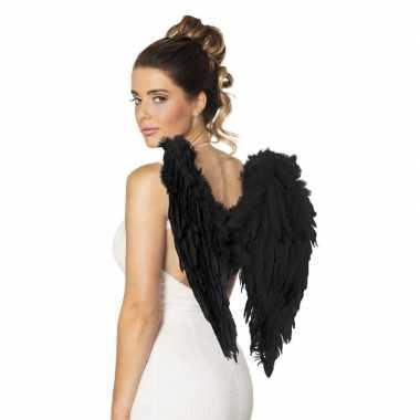 Zwarte engelen vleugels carnavalskleding roosendaal