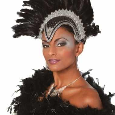 Carnavalskleding zwarte hoofdtooi dames roosendaal
