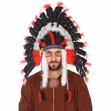 Zwarte indianen tooi heren carnavalskleding roosendaal