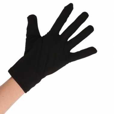 Zwarte korte handschoenen volwassenen carnavalskleding roosendaal