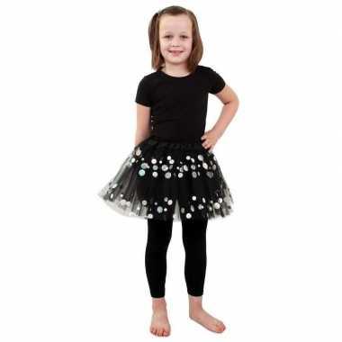 Zwarte petticoat stippen meisjes carnavalskleding roosendaal