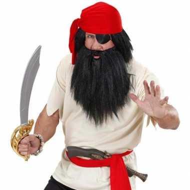 Zwarte piraten baard snor carnavalskleding Roosendaal