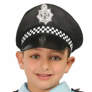 Zwarte politiepet kinderen carnavalskleding roosendaal