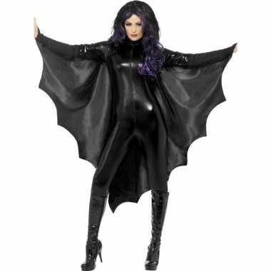 Zwarte vleermuisvleugels dames carnavalskleding roosendaal