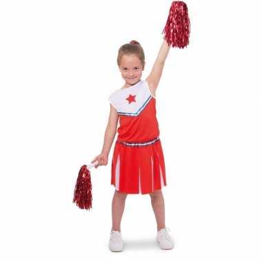 Cheerleader carnavalskleding verkleed carnavalskleding meisjes roosen
