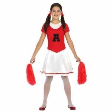 Cheerleader jurk/jurkje verkleed carnavalskleding meisjes roosendaal