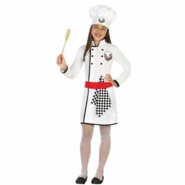 Chef kok verkleed carnavalskleding/jurk meisjes roosendaal
