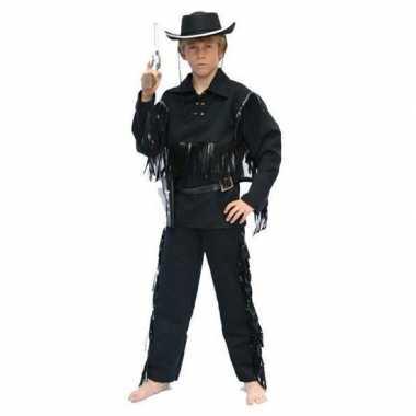 Cowboy carnavalskleding zwart kinderen roosendaal
