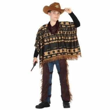 Cowboy/western carnavalskleding/verkleed carnavalskleding jongens roo