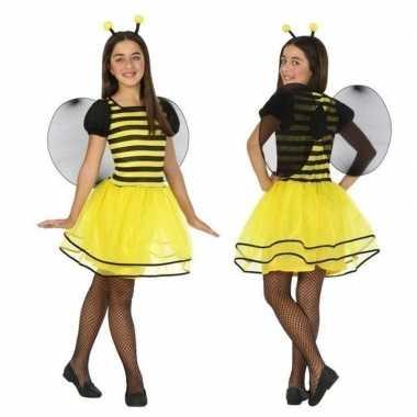 Dierencarnavalskleding bij/bijen verkleed jurk/jurkje meisjes roosend