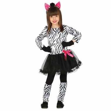 Dierencarnavalskleding zebra verkleedjurkje meisjes roosendaal