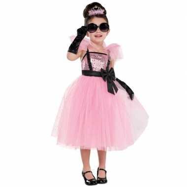 Diva glam prinses/prinsessen jurk carnavalskleding meisjes roosendaal