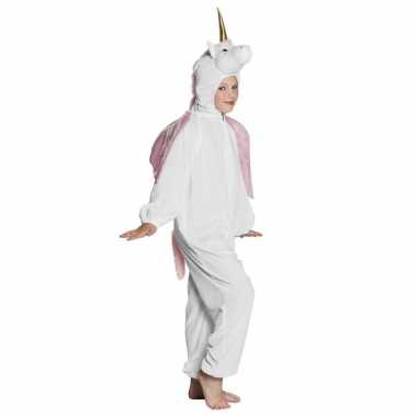 Eenhoorn dieren onesie/carnavalskleding kinderen wit roosendaal