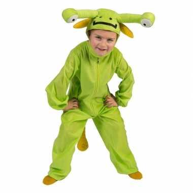Groen marsmannetje verkleed carnavalskleding kinderen roosendaal