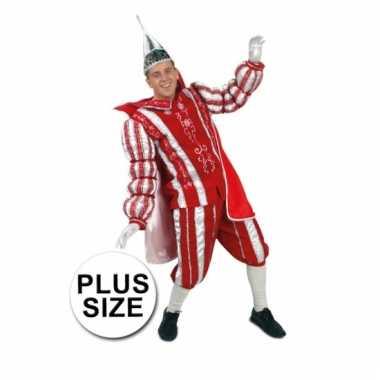 Grote maat prins carnaval carnavalskleding rood wit roosendaal