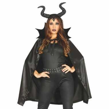 Halloween heks hoorns halloween carnavalskleding cape dames roosendaa
