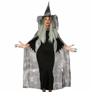 Halloween heksencape halloween carnavalskleding hoed dames roosendaal
