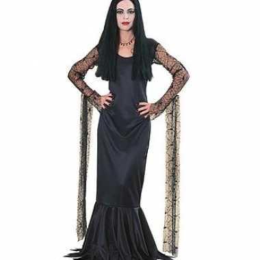 Halloween morticia dames carnavalskleding roosendaal