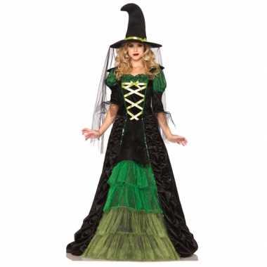 Heksen carnavalskleding groen zwart roosendaal
