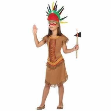 Indiaan/indianen jurk/jurkje verkleed carnavalskleding meisjes roosen