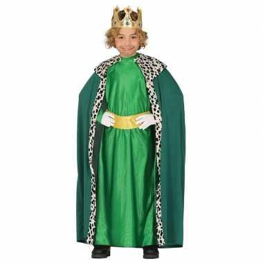 Koning mantel groen verkleedcarnavalskleding kinderen roosendaal