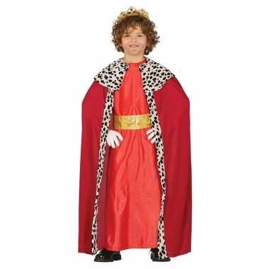 Koning mantel rood verkleedcarnavalskleding kinderen roosendaal