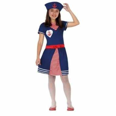 Matrozen verkleed jurkje/carnavalskleding meisjes roosendaal