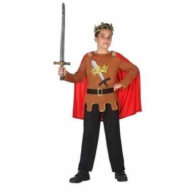 Middeleeuwse ridder/koning arthur verkleed carnavalskleding jongens r