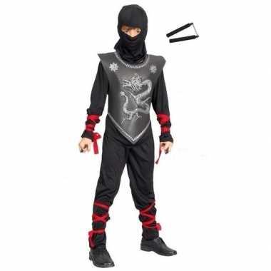 Ninja carnavalskleding maat l vechtstokken kinderen roosendaal