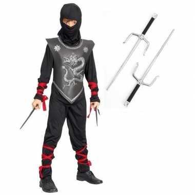 Ninja carnavalskleding maat m dolken kinderen roosendaal