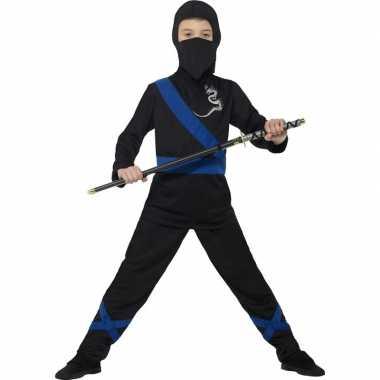 Ninja carnavalskleding zwart/blauw kinderen roosendaal