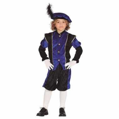 Pieten verkleed carnavalskleding zwart/blauw jongens/meisjes roosendaal