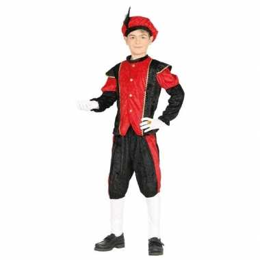 Pieten verkleed carnavalskleding zwart/rood jongens/meisjes roosendaa