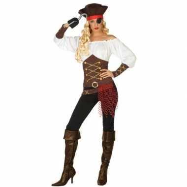 Piraat agatha verkleed carnavalskleding/carnavalskleding dames roosen