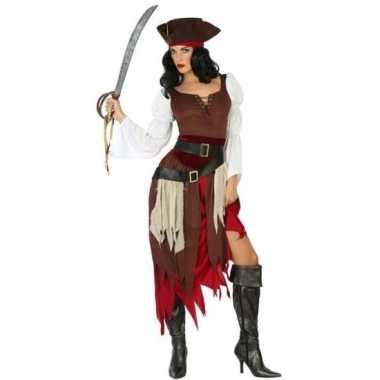 Piraat francis verkleed carnavalskleding/carnavalskleding dames roose