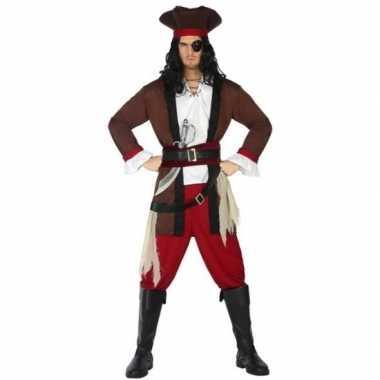 Piraat henry verkleed carnavalskleding/carnavalskleding volwassenen r