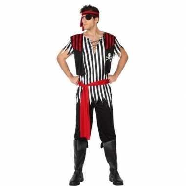 Piraat jack verkleed carnavalskleding/carnavalskleding heren roosenda