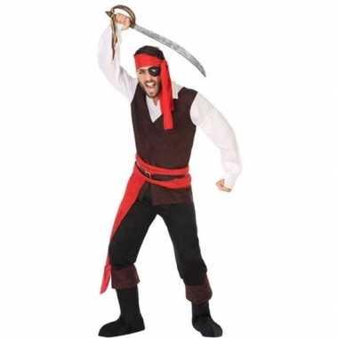 Piraat john verkleed carnavalskleding/carnavalskleding heren roosenda