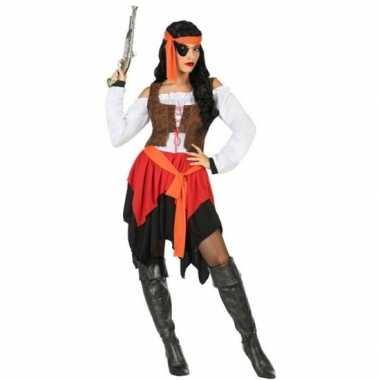 Piraat mary verkleed carnavalskleding/carnavalskleding dames roosenda