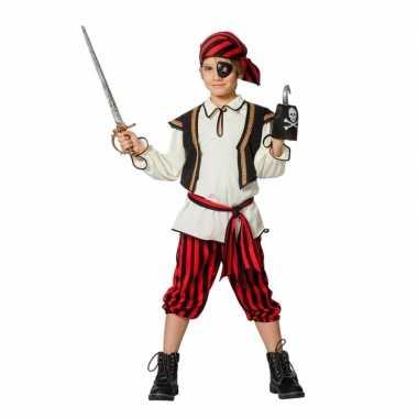 Piraten carnavalskleding rood/zwart jongens roosendaal