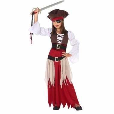 Piraten verkleed carnavalskleding/jurk meisjes roosendaal