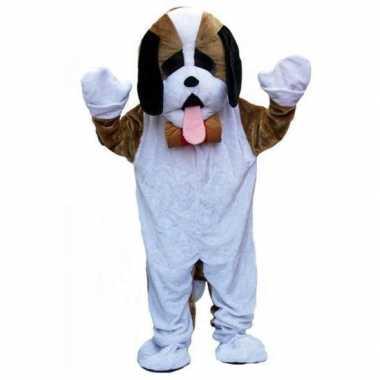 Pluche hond carnavalskleding volwassenen Roosendaal