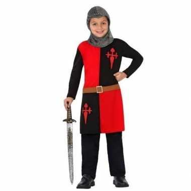 Ridder carnavalskleding/verkleed carnavalskleding rood jongens roosen