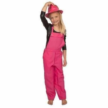 Roze tuinbroek/carnavalskledingl kinderen roosendaal