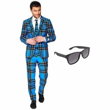 Schotse print heren carnavalskleding maat xxxl gratis zonnebril roosendaal